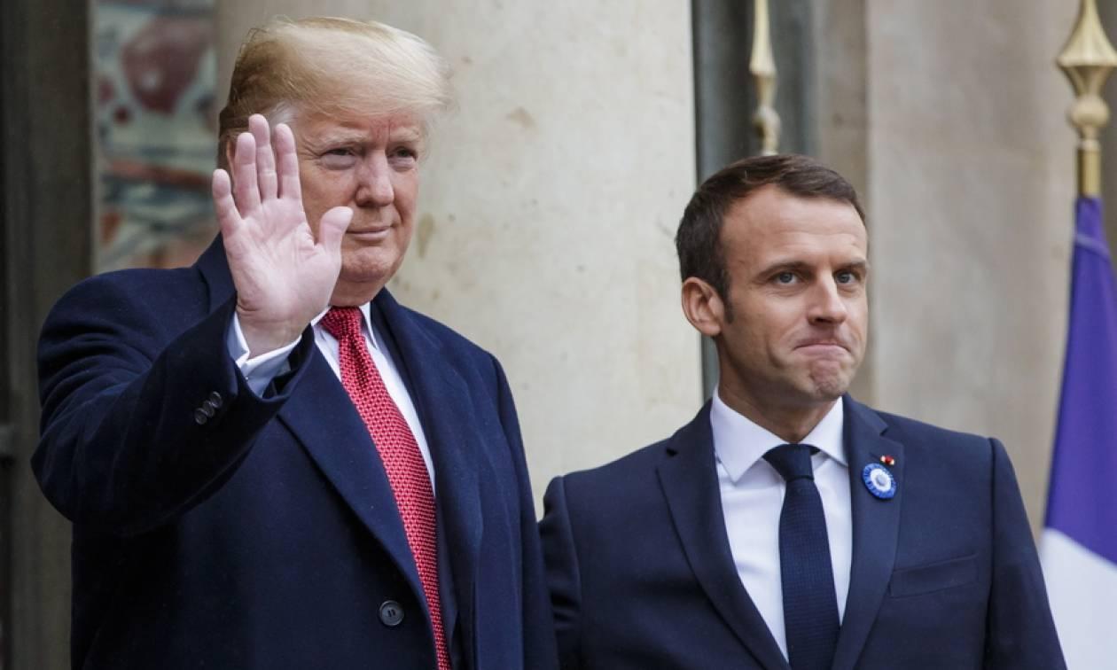 Μακρόν σε Τραμπ: Η Ευρώπη θα αναλάβει την ευθύνη για την άμυνά της (pics+vid)