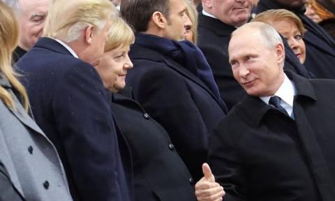 Τραμπ και Πούτιν είχαν μια «καλή» συνομιλία στο Παρίσι και θα τα ξαναπούν σύντομα (vid+pics)