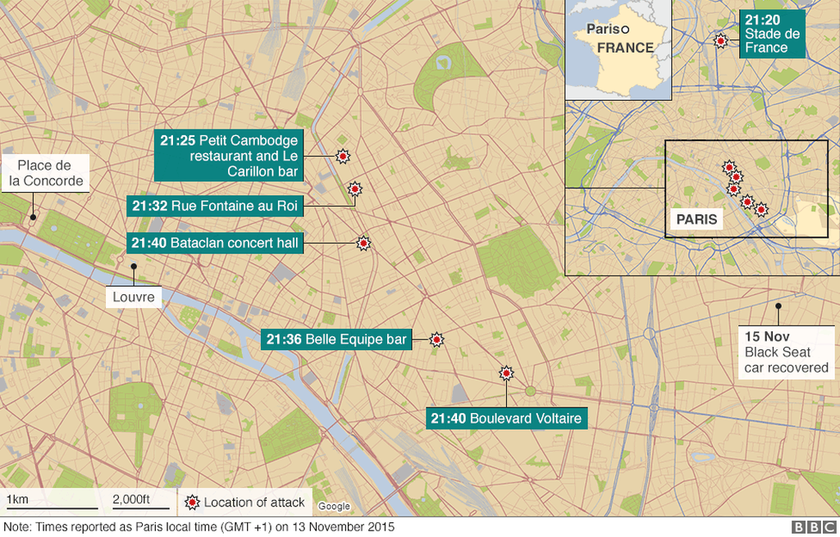 Τρομοκρατική επίθεση Παρίσι: 13 Νοεμβρίου 2015 - Η μέρα που άλλαξε για πάντα την Ευρώπη (pics+vids)