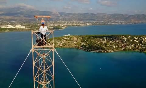 Η νέα ελεύθερη πτώση του Κωνσταντίνου Οροκλού θα σας... κόψει την ανάσα (Video)