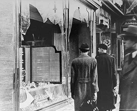 Kristallnacht example of physical damage