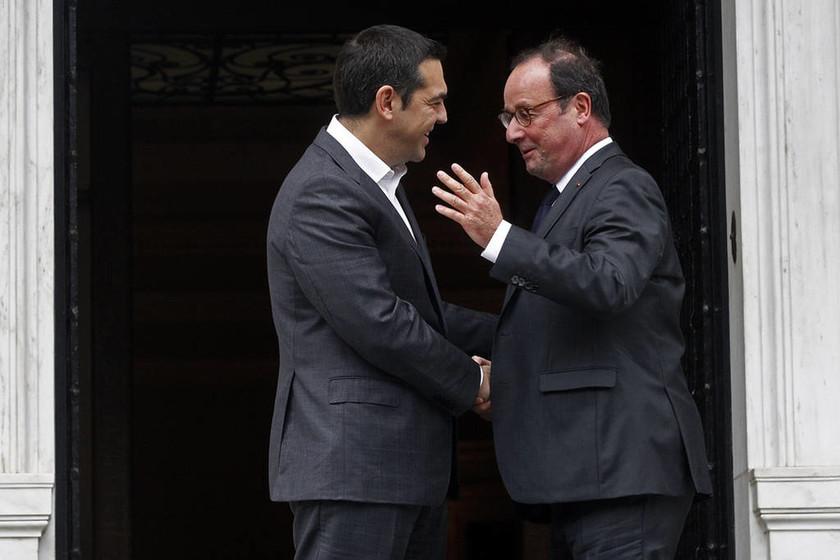 Τσίπρας σε Ολάντ: «Ήσουν φίλος της Ελλάδας στα δύσκολα» (pics)