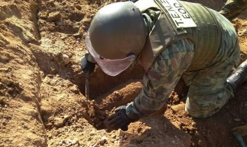 Ναρκαλιευτές του στρατού εξουδετέρωσαν εννέα βόμβες στο Ίλιον