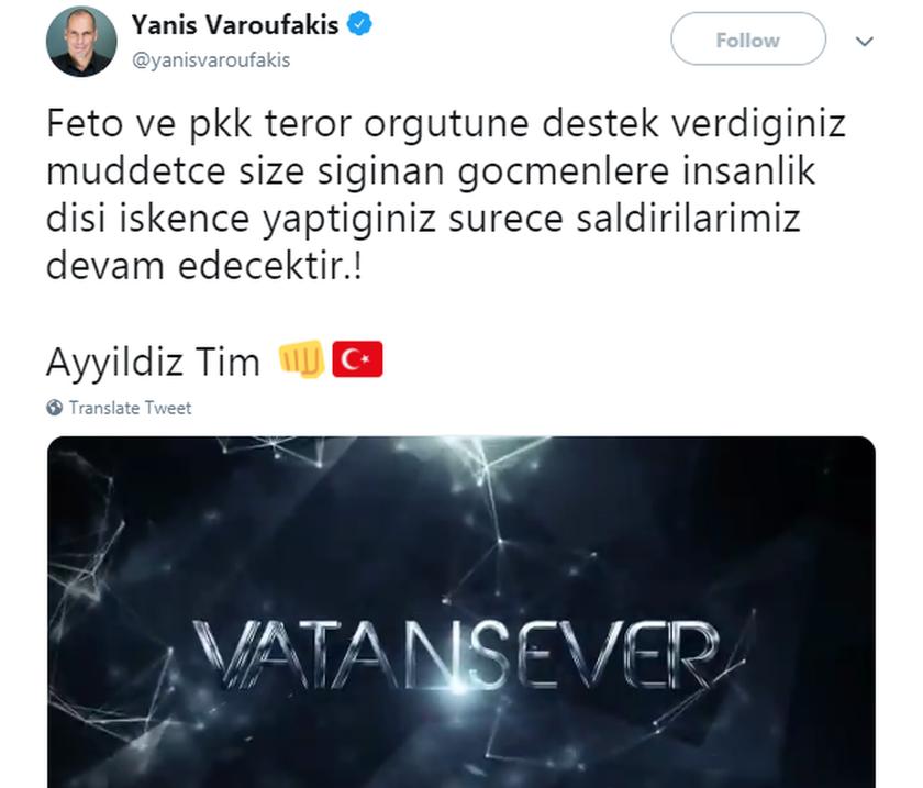 Τούρκοι χάκαραν το Τwitter του Γιάνη Βαρουφάκη