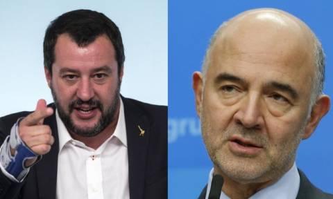 «Λάβρος» ο Σαλβίνι κατά του Μοσκοβισί: «Σταμάτα να προσβάλλεις την Ιταλία – Αρκετά!»