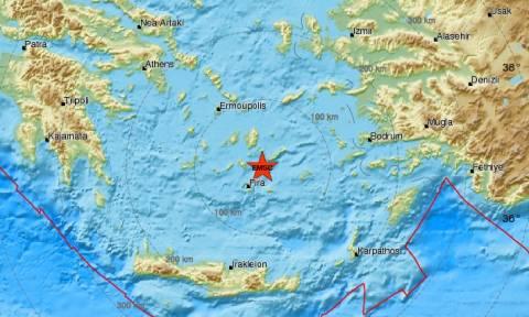 Σεισμός κοντά στην Αμοργό (pic)