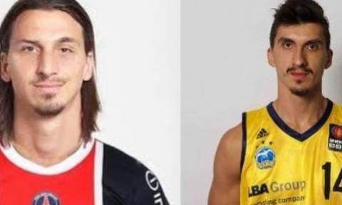 Ο μπασκετμπολίστας που είναι «φτυστός» ο Ιμπραΐμοβιτς λέει «Δεν είμαι ο Ζλάταν»! (video)