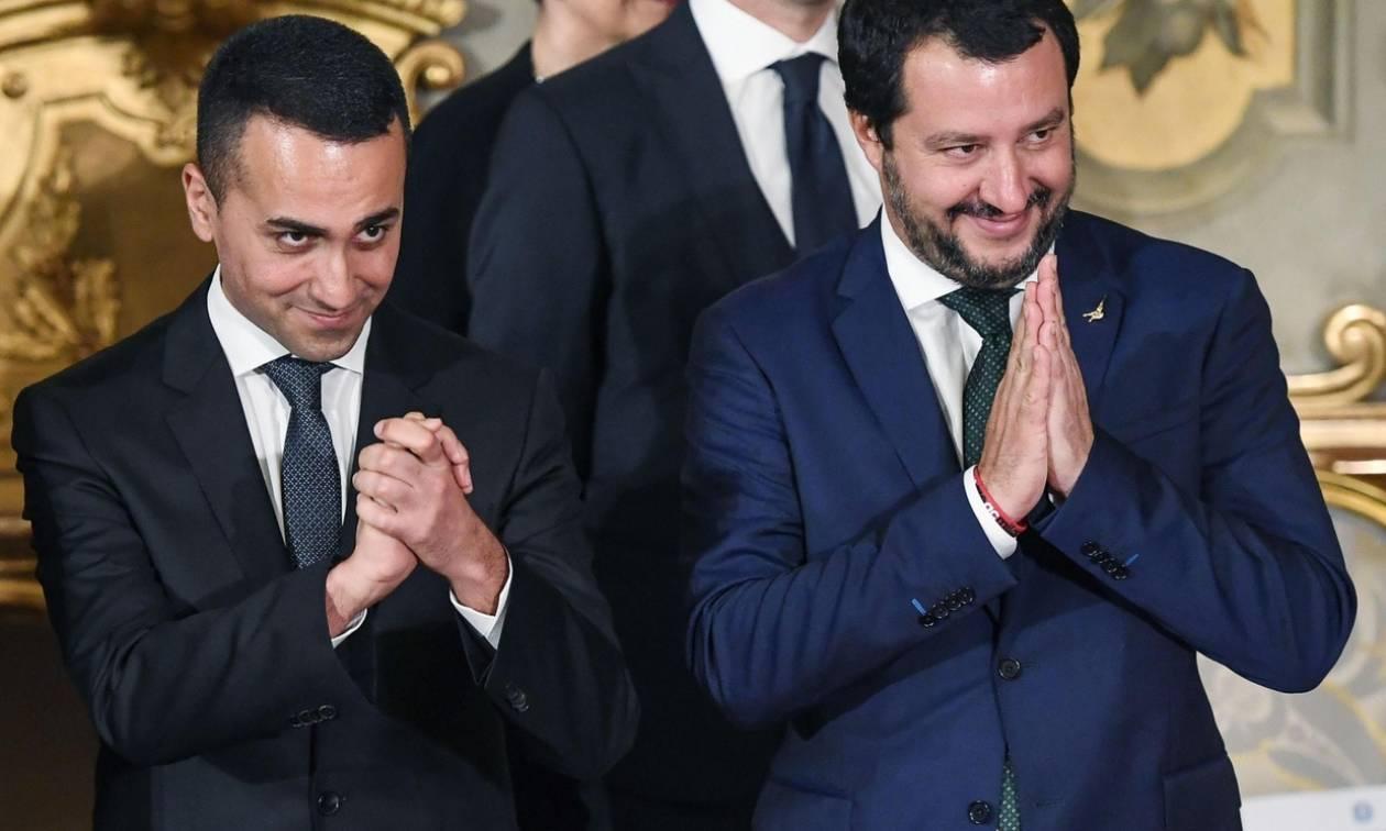Ξεκίνησε η ιταλική «κωλοτούμπα»: Ανοικτοί σε μείωση του ελλείμματος ντι Μάιο και Σαλβίνι