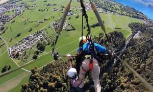Πτήση... τρόμου για τουρίστα στην Ελβετία: Ο δάσκαλος δεν τον έδεσε ποτέ στο αιωρόπτερο! (vid)