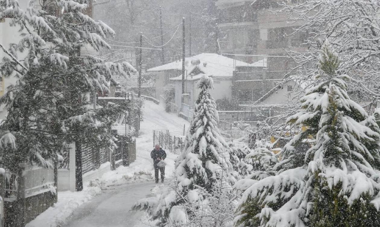 Καιρός: Ποιες περιοχές βρίσκονται στο «μάτι» της Πηνελόπης – Χιόνια, κρύο και μποφόρ