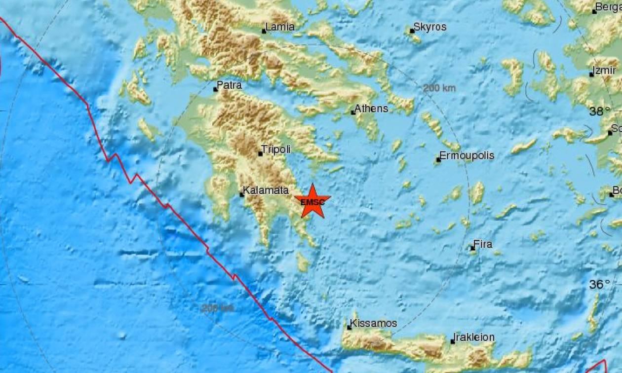 Σεισμός ανατολικά της Λακωνίας - Αισθητός σε αρκετές περιοχές (pics)