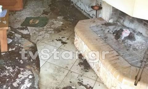 Αταλάντη: Συναγερμός στην πυροσβεστική - Σπίτι τυλίχθηκε στις φλόγες (pics)