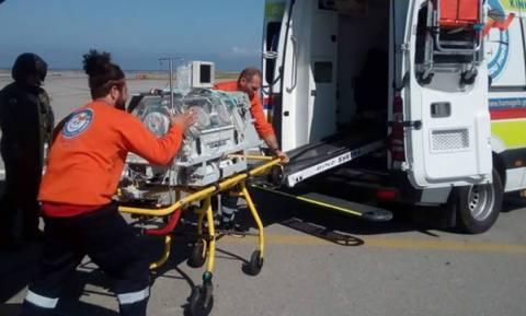 Αερογέφυρα ζωής για βρέφος 4 ημερών από τη Λέρο στο Ηράκλειο