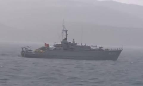 Ιμια: Οι Έλληνες ψαράδες κάνουν κανονικότατα τη δουλειά τους χωρίς κανένα φόβο... (Video)