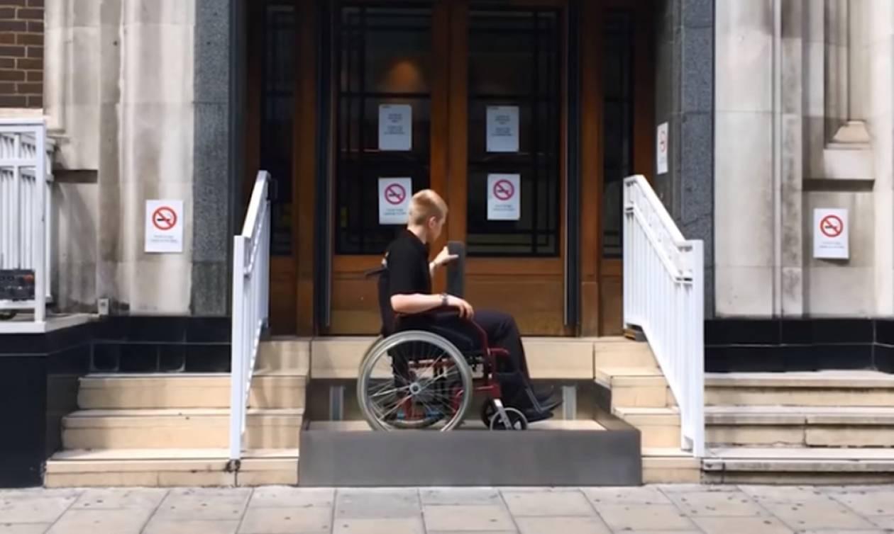 Αυτήν την τεχνολογία θέλουμε! Έφτιαξαν ειδικές σκάλες για ανθρώπους με κινητικά προβλήματα!