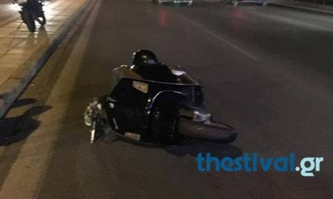 Θεσσαλονίκη: Οδηγός ταξί χτύπησε μοτοσικλετιστή και τον εγκατέλειψε (pic)