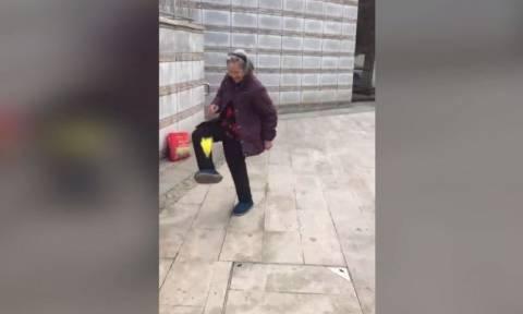 Η 80χρονη με την αξιοζήλευτη ενέργεια! (vid)