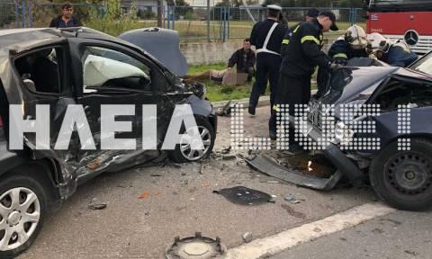 Πύργος: Αυτοκίνητο μπήκε στο αντίθετο ρεύμα -Δυο τραυματίες (pics+vid)