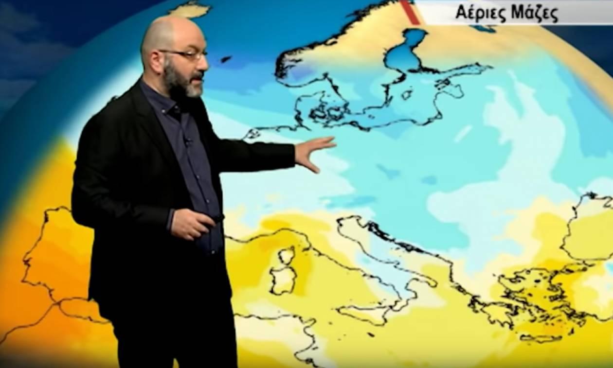 Καιρός: Έκτακτη ενημέρωση του Σάκη Αρναούτογλου για τα χιόνια της επόμενης εβδομάδας (video)
