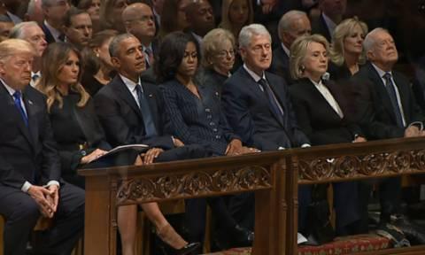 LIVE: Το τελευταίο «αντίο» στον Τζορτζ Μπους