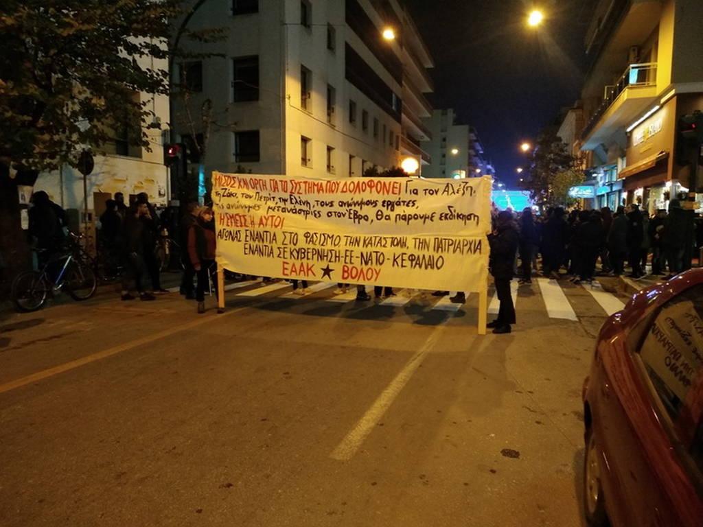 Επέτειος Γρηγορόπουλου: Σοβαρά επεισόδια μετά τις πορείες στο Βόλο (pics+video)