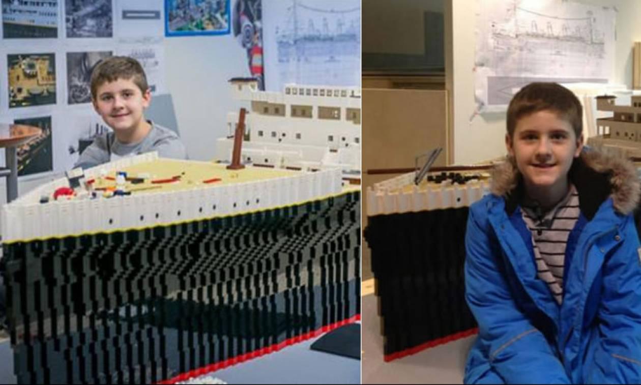 Το 15χρονο αγόρι με αυτισμό που έφτιαξε τον Τιτανικό με lego (photos+vid)