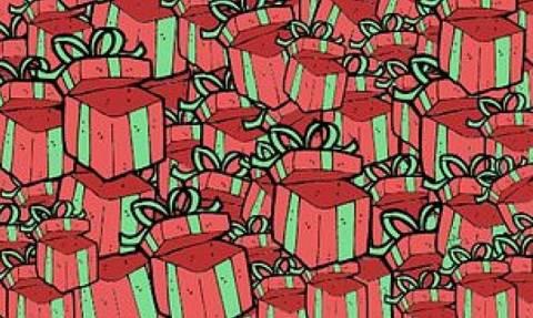 Η σπαζοκεφαλιά της ημέρας: Μπορείτε να εντοπίσετε τη σακούλα ανάμεσα στα δώρα; (Photo)