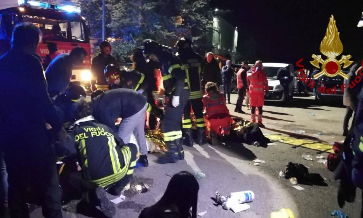 Τραγωδία στην Ανκόνα: Εκατοντάδες ποδοπατήθηκαν σε κλαμπ – Τουλάχιστον έξι νεκροί (Pics+Vid)