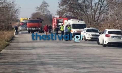 Θεσσαλονίκη: Ανατροπή ΙΧ στη Σίνδο - Δύο τραυματίες