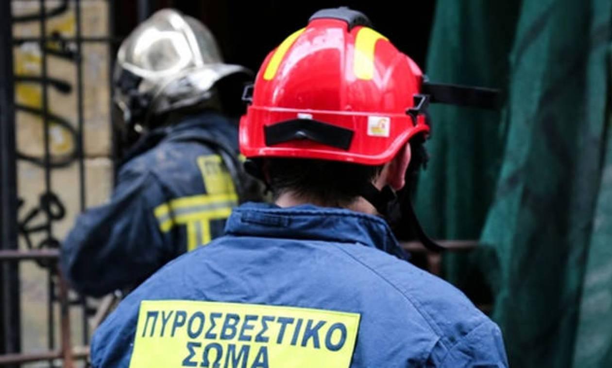 Πυρκαγιά σε εργοστάσιο ανακύκλωσης στο Κορωπί