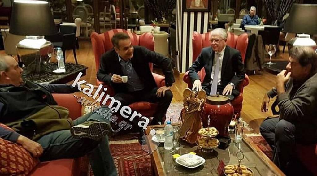 Με ποιους συναντήθηκε ο Μητσοτάκης στην Τρίπολη; (pics)