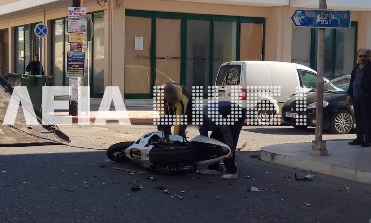 Αμαλιάδα: Ένας τραυματίας σε τροχαίο (pics)