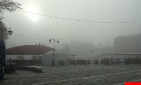 Τρίπολη: Τοπίο στην ομίχλη (pic+vid)