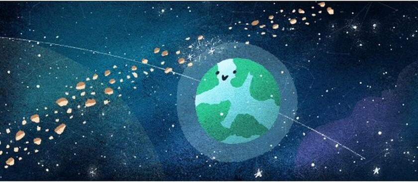 Διδυμίδες 2018: Στη βροχή μετεωριτών με το ελληνικό όνομα αφιερώνει το σημερινό της doodle η Google