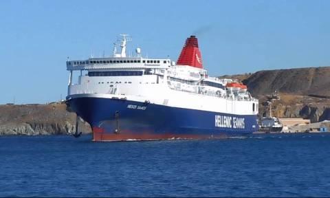 Βλάβη στο πλοίο «Νήσος Σάμος» με 238 επιβάτες