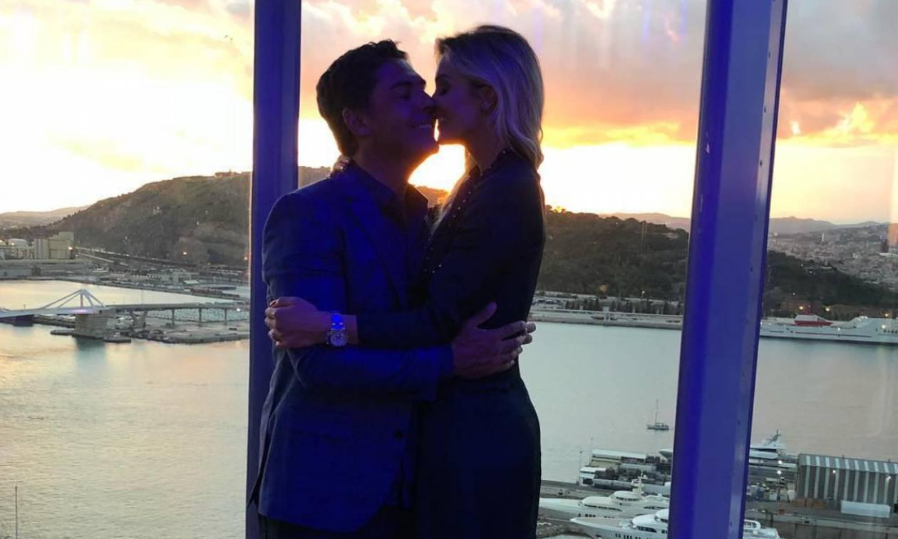 Σπάνια φωτογραφία του πρώην της Αθηνάς Ωνάση με τη νέα του εντυπωσιακή σύζυγο