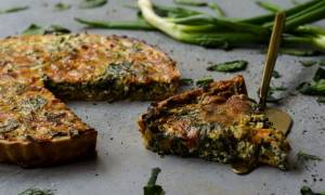 Η συνταγή της ημέρας: Quiche με σπανάκι και ψητές πιπεριές