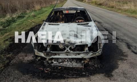 Πανικός στην Ηλεία: Αυτοκίνητο λαμπάδιασε στο δρόμο (pics)