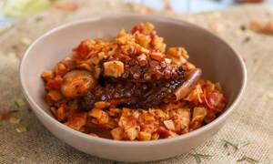 Υπέροχη συνταγή: Χταπόδι στιφάδο με χυλοπίτες