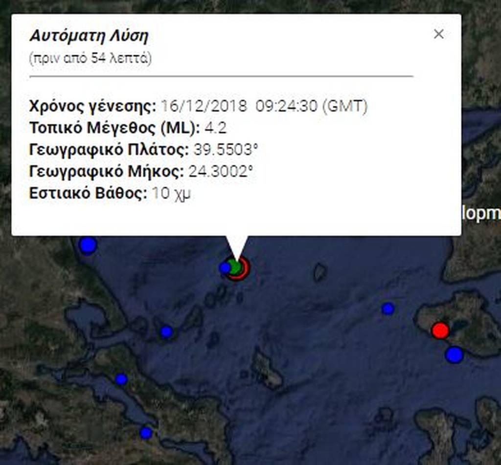 Σεισμός «ταρακούνησε» την Αλόννησο