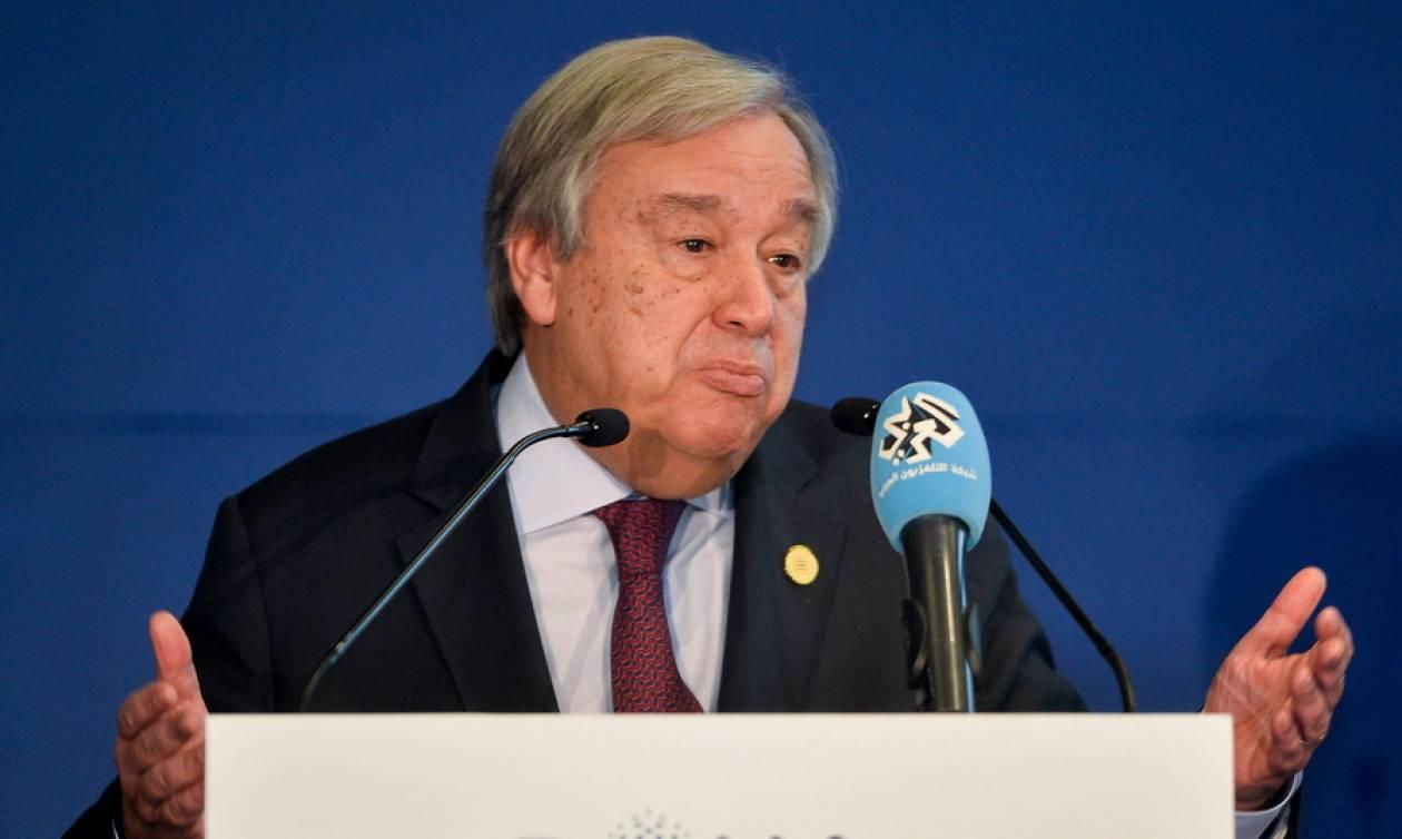 Γκουτέρες - ΟΗΕ: Σε μια εποχή χάους και σύγχυσης μιμηθείτε το παράδειγμα της Ελλάδας και των Σκοπίων