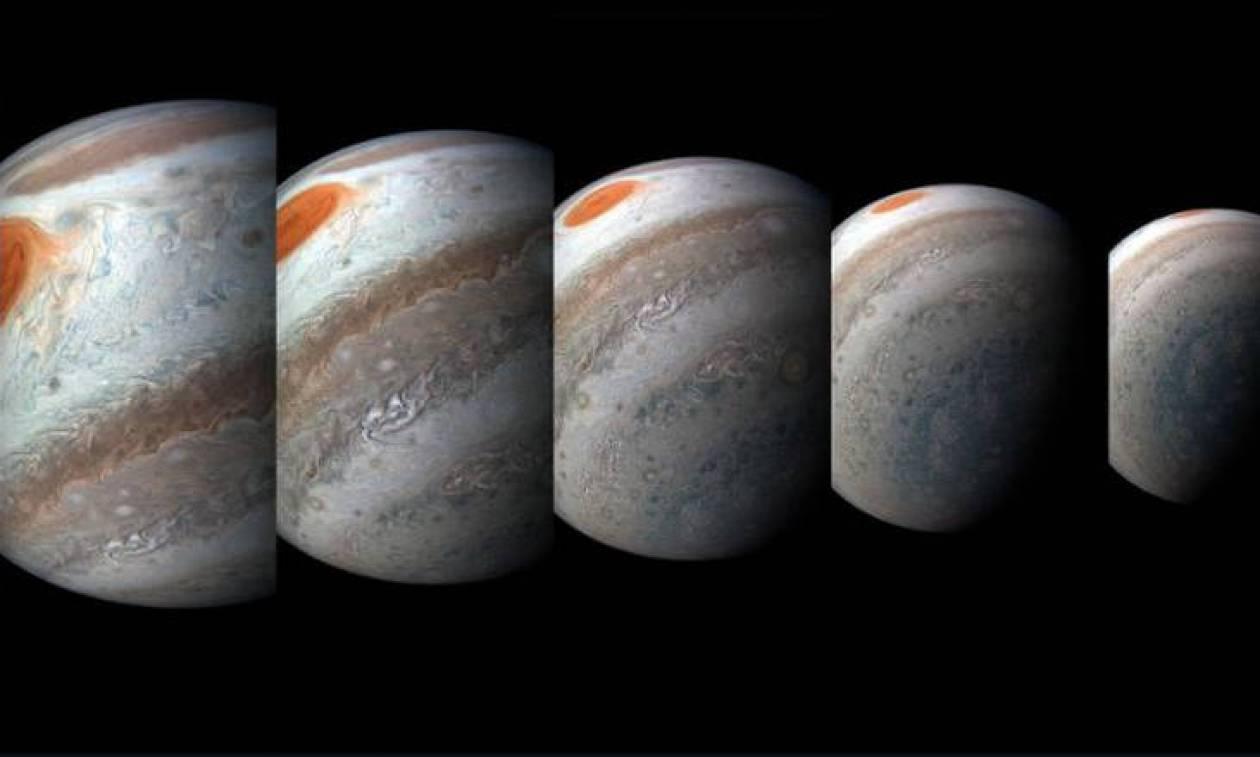Η μαγεία του διαστήματος: Δείτε τις εκπληκτικές φωτογραφίες του Juno της NASA από τον πλανήτη Δία
