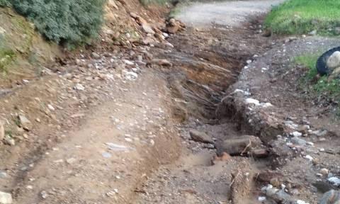 Κακοκαιρία: Σοβαρές ζημιές από τις βροχές σε χωριά της Σπάρτης (pics)