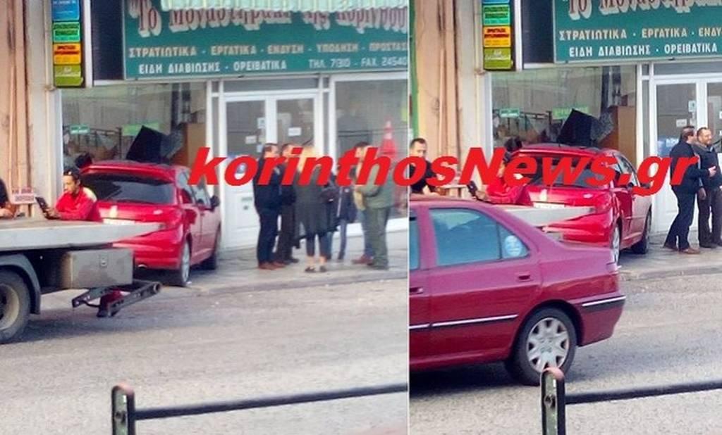 Κόρινθος: Αυτοκίνητο μπήκε μέσα σε κατάστημα (pic)