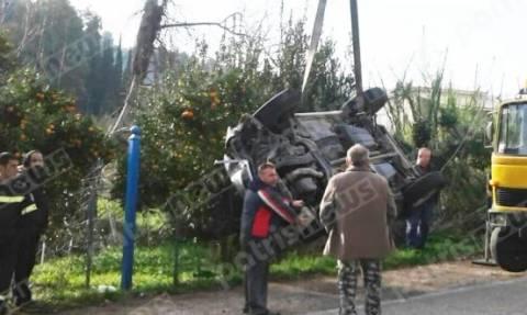 Ηλεία: Αυτοκίνητο αναποδογύρισε -Στο νοσοκομείο ο οδηγός (pics)
