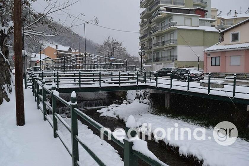 Καιρός: Στα λευκά και πάλι η Φλώρινα (pics)