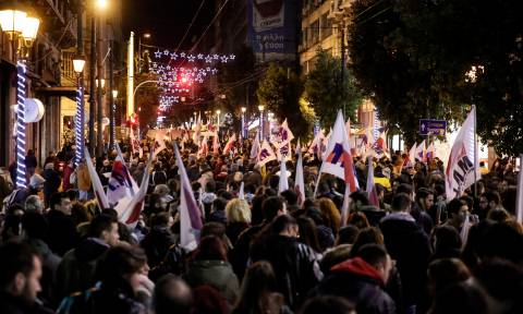 Συλλαλητήρια στο κέντρο της Αθήνας για τον προϋπολογισμό (pics)