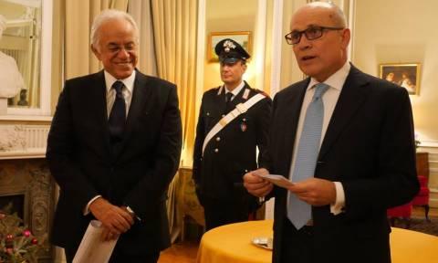 Παρασημοφόρηση του κ. Δημήτρη Κοπελούζου από τον Πρόεδρο της Ιταλικής Δημοκρατίας