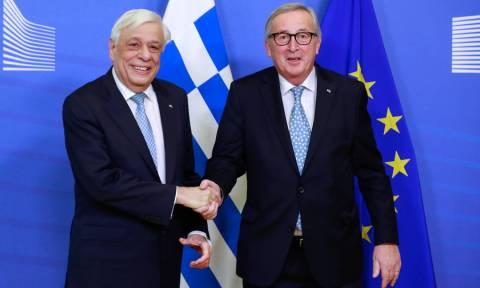 Προκόπης Παυλόπουλος και Ζαν Κλοντ Γιούνκερ υπέρ της ένταξης των χωρών των Δυτικών Βαλκανίων στην ΕΕ