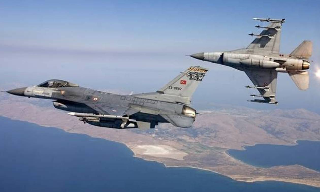 Συναγερμός στο Αιγαίο: Δύο τουρκικά F-16 πέταξαν πάνω από το Καστελλόριζο